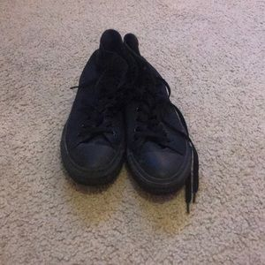 Converse all black high tops. Size 11 WOMEN